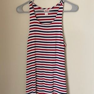 Mossimo Co. Red White and Blue Tank Top